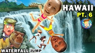 Download WATERFALL JUMPING KIDS! Epic Hiking Adventure @ Twin Falls Hawaii (FUNnel Vision Trip - Maui Part 6) Video