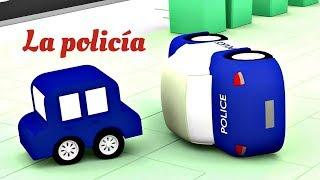 Download 4 coches coloreados. Las aventuras de la policía. Dibujos animados. Video