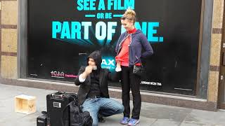 Download Amazing street magician in London Video