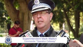 Download Police launch Operation Callaway for ANZAC Day Video