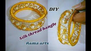 Download Silk thread bangle - How to make silk thread bangle | jewellery tutorials Video