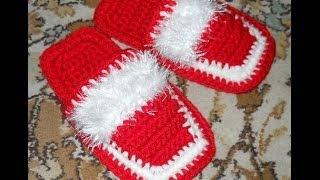 Download Тапочки крючком - Crochet slippers - 2 часть - вязание верхней части Video