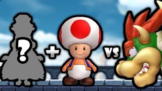 Download Pink Gold Peachette & Red Toad Vs All Bosses + Final Boss In New Super Mario Bros U Deluxe Video