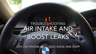 Download E92 335i (N54 2D2E and 30FF) AIR INTAKE UNDER PRESSURE PROBLEMS Video