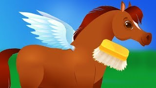 Download Pony Care Kids Games - Pixie the Pony - My Mini Horse Pet Care - Kids Learn to Care For Pony Video