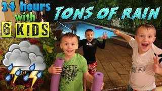 Download 24 Hours with 6 Kids on a Rainy Flooding Day Video