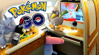 Download POKEMON GO - Catching Pokemon In 1st Class Video