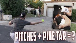 Download DO PITCHES ACTUALLY MOVE MORE WITH PINETAR? IRL BASEBALL CHALLENGE Video