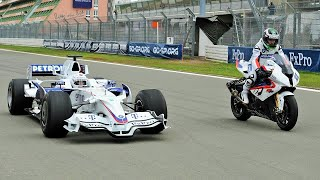 Download F1 Car vs Bike: BMW Sauber F1 vs BMW S 1000 RR Video