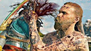 Download GOD OF WAR 4 - Atreus Shoots Kratos & Baldur Stabs Atreus (Baldur Boss Fight #2) Video