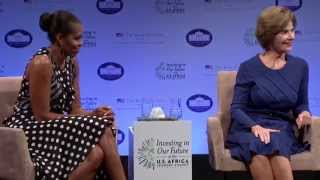 Download First Ladies Laura Bush and Michelle Obama at Investing in Our Future Video