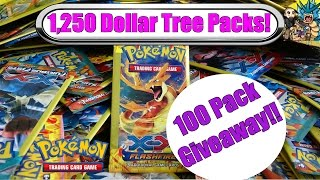 Download 1,250 Dollar Tree Pokemon Packs! 100 pack GIVEAWAY!! Pokemon TCG Cards Unboxing Video