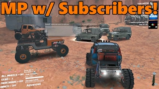 Download Spin Tires MODDED MULTIPLAYER w/ Subscribers! | Rock Crawling at Moab Video
