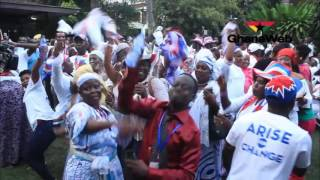 Download NPP supporters jubilate following President Mahama's concession Video