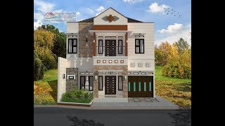 Download Modern House (9,8 x 12) 4 K. Tidur. Desain Rumah Minimalis Lantai 2 Video
