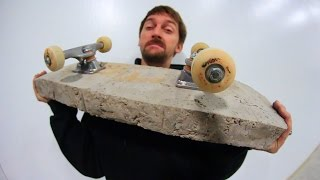 Download WORLD'S HEAVIEST SKATEBOARD?! (PURE CONCRETE) | YOU MAKE IT WE SKATE IT EP 67 Video