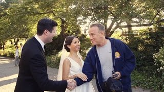 Download Watch This Couple's Shocked Reaction When Tom Hanks Crashes Their Wedding Photos Video