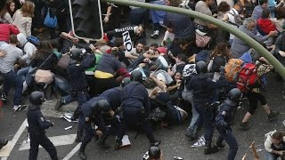 Download Muslim riots in German immigration center Video