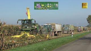 Download Großeinsatz Maishäckseln / 20 Fahrzeuge -Biogasanlage Biggest farmer corn harvest Maisernte LU Blunk Video