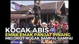 Download Lucu Kocak. Panjat Pinang Wanita Melorot Nggak Sampai Sampai Video