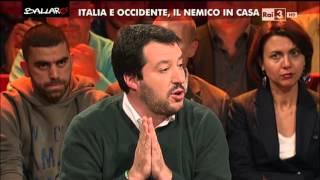 Download Matteo Salvini su Isis: ″Fermare chi li finanzia e intervenire militarmente″ - Ballarò 17/11/2015 Video