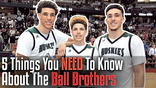 Download 5 Things You NEED To Know About The BALL BROTHERS! Lonzo, LaMelo, and LiAngelo Ball Video