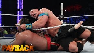 Download WWE Network: Lana puts an end to the ″I Quit″ Match between John Cena and Rusev: WWE Payback 2015 Video
