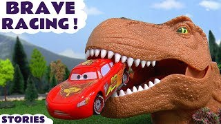 Download Disney Cars Toys Racing Toy Car Kids stories with Dinosaur and Thomas and Friends Trains TT4U Video