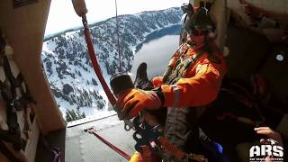 Download Man rescued from 1,000-foot fall into Crater Lake caldera Video