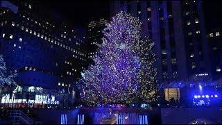 Download Encendido del árbol de Navidad del Rockefeller Center, en Nueva York Video