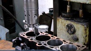 Download Гильзовка блока цилиндров.Украина/BLOCK machining,cylinders replacement# Engine rebuild Ukraine Video