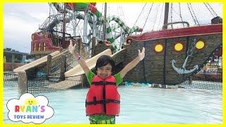 Download HUGE WATERPARK KIDS FUN Video Splash Pad Waterslide Ride Playground Family Amusement Park Ryan Video
