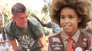 Download Men Try To Earn Girl Scout Badges Video