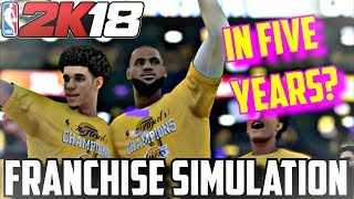 Download WOULD LEBRON AND PAUL GEORGE WIN A RING ON THE LAKERS?? - NBA2K18 FRANCHISE SIMULATION Video