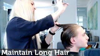 Download Maintaining men's long hair while growing it out Video