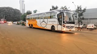 Download SRS MERCEDES BENZ BUS ENTERING ANAND RAO CIRCLE, BANGALORE |CABIN RIDE| Video