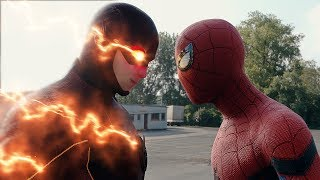 Download Spider-man: Homecoming Spider-Man vs The Flash FIGHT SCENE | Marvel vs DC 2017 Video
