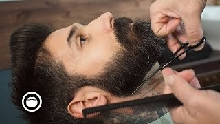 Download Barbershop Beard Trim & Wet Shave with Narration | Carlos Costa Video