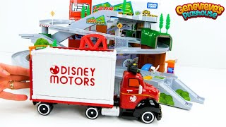 Download Let's play with Disney Tsum Tsum and Shopkins Cars on the Tomica Mountain Drive playset! Video