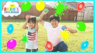 Download COLOR WATER BALLOONS FIGHT | Outdoors Activities for Kids Video