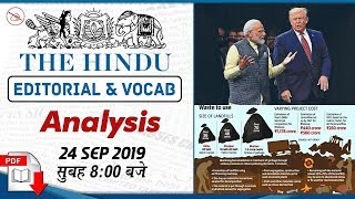 Download The Hindu Editorial Analysis | 24 September 2019 | UPSC | Bank | SSC | Railway | 8:00 AM Video
