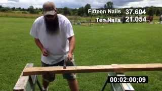 Download Nailing Ten 3″ Hand Nails into a 2″ Board with One Swing!! Video