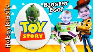 Download Giant TOY STORY Surprise Eggs with HobbyKidsTV Video