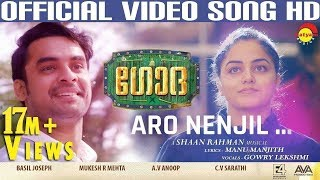 Download Aaro Nenjil Video Song with Lyrics | Godha Official | Tovino Thomas | Wamiqa Gabbi | Shaan Rahman Video