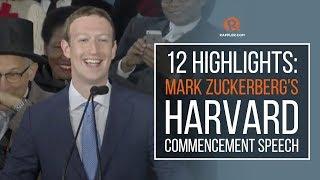 Download 12 highlights: Mark Zuckerberg's Harvard commencement speech Video