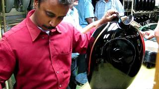 Download Hand painting of the Royal Enfield Tank Video