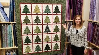 Download Christmas in July!? Ponderosa Pines Quilt Full tutorial Video