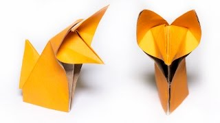 Download Origami Fox. How to make a cute Fox Video