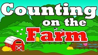 Download Counting on the Farm - Counting Farm Animals - ″Farmer in the Dell″ Nursery Rhymes Preschool Songs Video