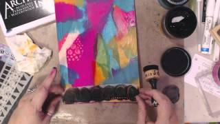 Download Video 1 Using Bleeding Tissue Paper with Dylusions Paints Video